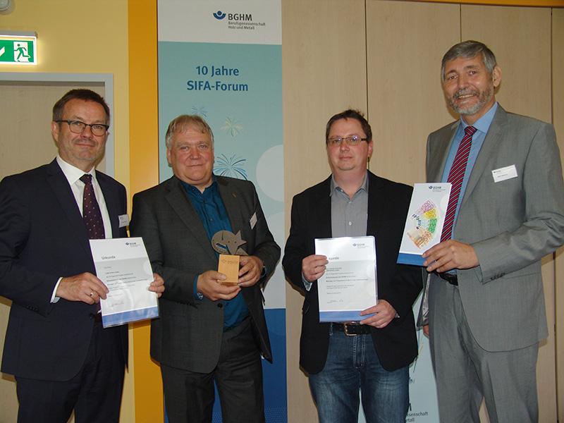 Arbeitsschutz cam GmbH – Auszeichnung der Berufsgenossenschaft BGHM