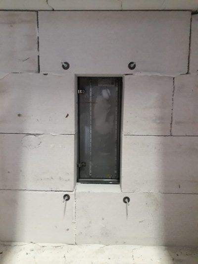 Brabndschutzgehäuse Ansicht Innenraum Brandofen mit Blick auf die Gehäusetür