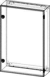 Gehäuse für Montageplatte 375x585mm Größe 400x600x155mm