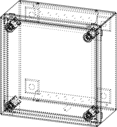 Klemmkasten Größe 150x150x80mm