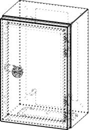 Gehäuse für Montageplatte 150x275mm Größe 200x300x155mm