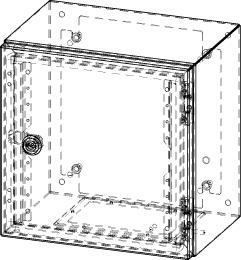 Gehäuse für Montageplatte 250x275mm Größe 300x300x210mm
