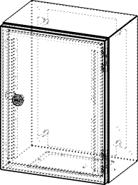 Gehäuse für Montageplatte 250x375mm Größe 300x400x210mm