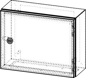 Gehäuse für Montageplatte 330x275mm Größe 380x300x155mm