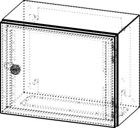 Gehäuse für Montageplatte 330x275mm Größe 380x300x210mm