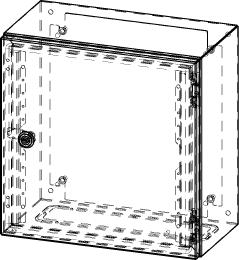 Gehäuse für Montageplatte 330x355mm Größe 380x380x210mm