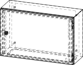Gehäuse für Montageplatte 550x355mm Größe 600x380x210mm