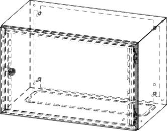 Gehäuse für Montageplatte 550x355mm Größe 600x380x350mm