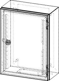 Gehäuse für Montageplatte 250x375mm Größe 300x400x155mm