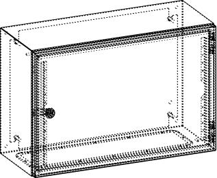 Gehäuse für Montageplatte 550x375mm Größe 600x400x250mm