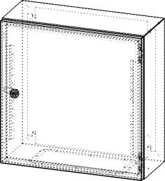 Gehäuse für Montageplatte 450x475mm Größe 500x500x210mm