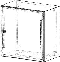 Gehäuse für Montageplatte 450x475mm Größe 500x500x300mm
