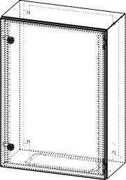 Gehäuse für Montageplatte 450x675mm Größe 500x700x250mm