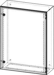 Gehäuse für Montageplatte 550x775mm Größe 600x800x250mm