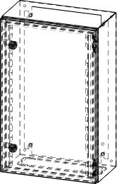 Gehäuse für Montageplatte 330x575mm Größe 380x600x210mm