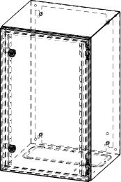 Gehäuse für Montageplatte 330x575mm Größe 380x600x350mm