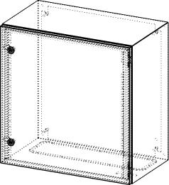 Gehäuse für Montageplatte 550x575mm Größe 600x600x350mm