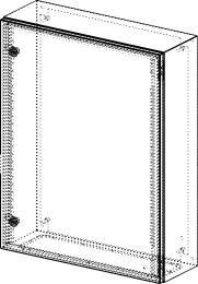 Gehäuse für Montageplatte 550x735mm Größe 600x760x210mm