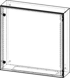 Gehäuse für Montageplatte 710x735mm Größe 760x760x210mm