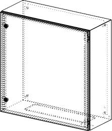 Gehäuse für Montageplatte 710x735mm Größe 760x760x300mm