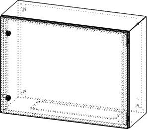 Gehäuse für Montageplatte 750x575mm Größe 800x600x300mm