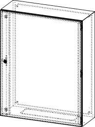 Gehäuse für Montageplatte 750x950mm Größe 800x1000x300mm