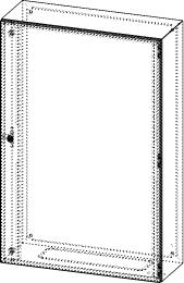 Gehäuse für Montageplatte 750x1150mm Größe 800x1200x300mm
