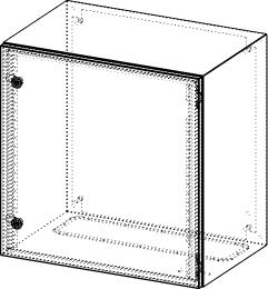 Gehäuse für Montageplatte 550x575mm Größe 600x600x400mm