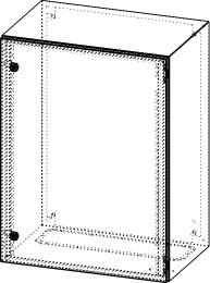 Gehäuse für Montageplatte 550x775mm Größe 600x800x400mm