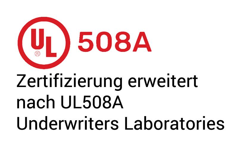 Schaltschrankbauwe nach UL508A zertifiziert