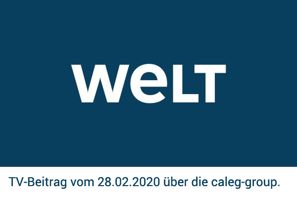 TV-Beitrag auf WELT - vormals N24 - zur caleg group