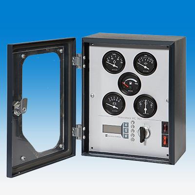 Uniflex RE, eintürig, mit Sichtscheibe und kundenseitigen Messinstrumenten