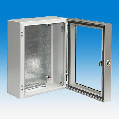 Uniflex RE, Aufsatztür aus Aluminium mit seitlichem Vorreiber